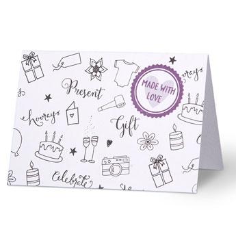 persoonlijk felicitatie kaartje cadeau