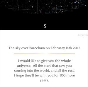 ondertitel sterrenhemel 50 jaar cadeau