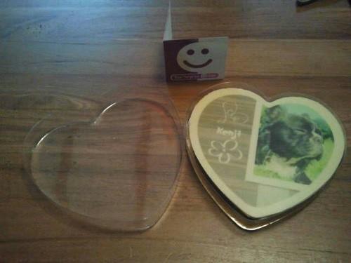 verpakking cadeaukaartje chocoladehart 50 jaar abraham sarah