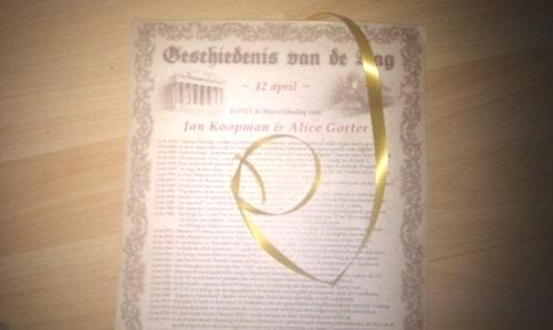 lintje persoonlijk document origineel cadeau