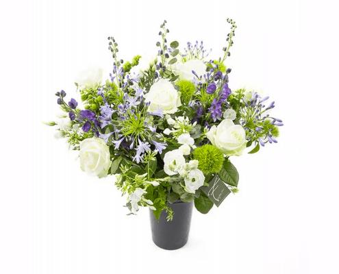 paars wit bloemen cadeau 50 jaar