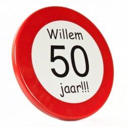 verkeersbord persoonlijk abraham sarah 50
