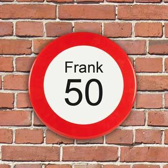 verkeersbord 50 jaar cadeau