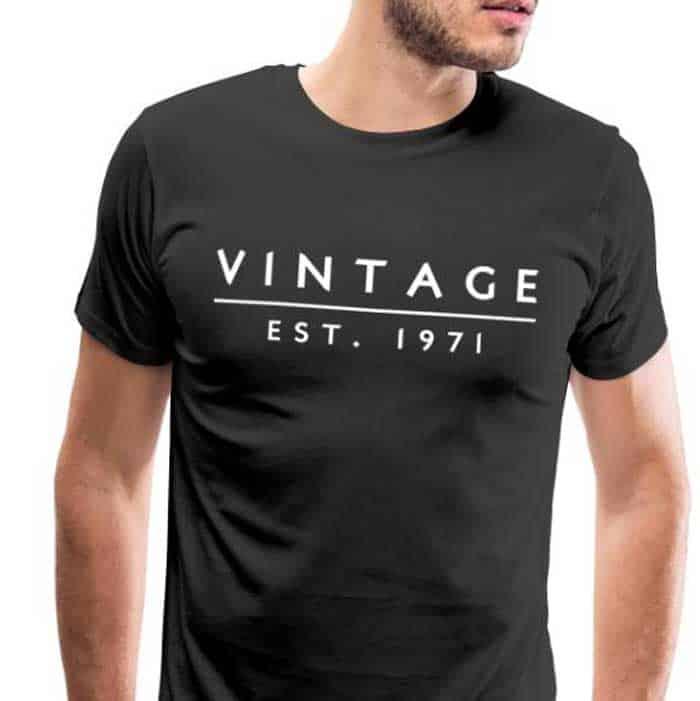 Vintage 1971 cadeau