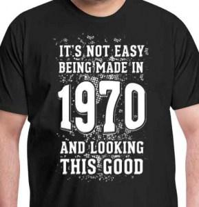 50 jaar cadeau shirt 1970