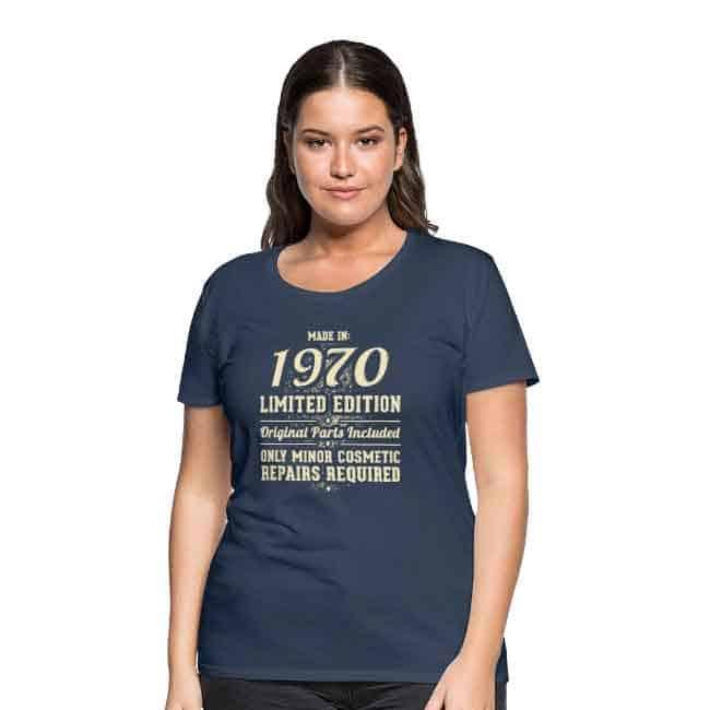 50 jaar cadeau shirt 1970 Sarah
