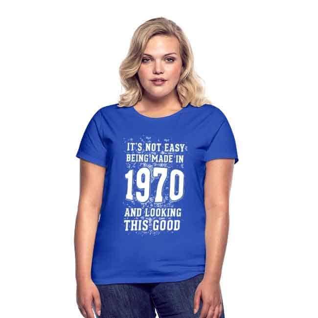 50 jaar cadeau vrouwen shirt 1970