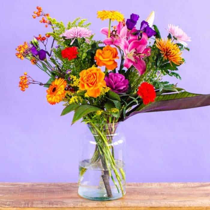 Persoonlijke Bos Bloemen 50 Jaar Cadeau