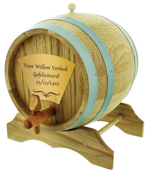 1 liter biervat houten