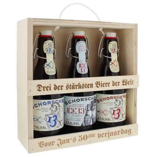 drie persoonlijke bieren