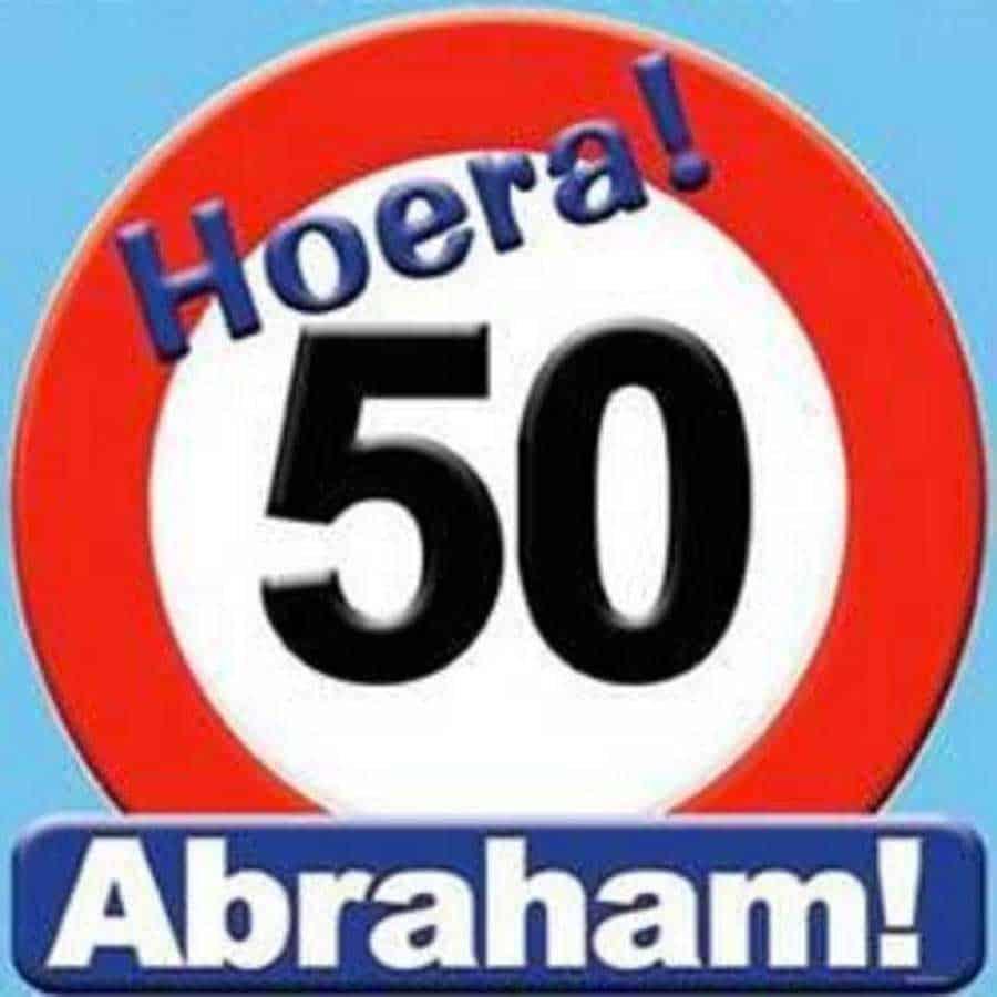 Abraham 50 Schild
