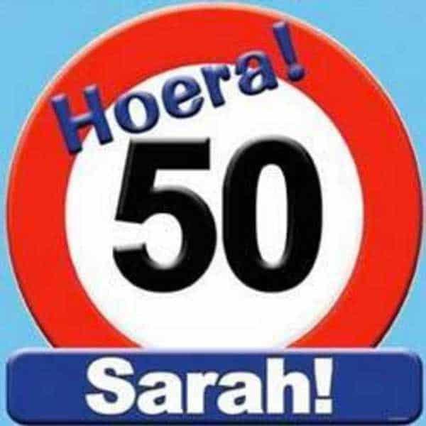 Sarah 50 Schild