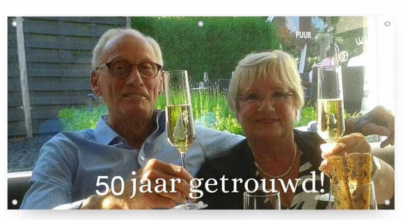 Spandoek 50 Jaar Getrouwd